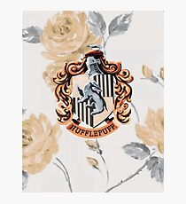 Hufflepuff Floral Photographic Print