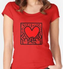 KEITH HARINGS 1 Women's Fitted Scoop T-Shirt