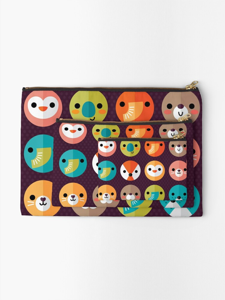 Alternate view of Smiley Faces Zipper Pouch