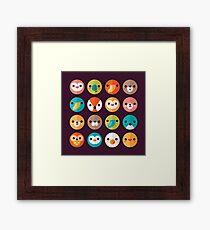 Smiley Faces Framed Print