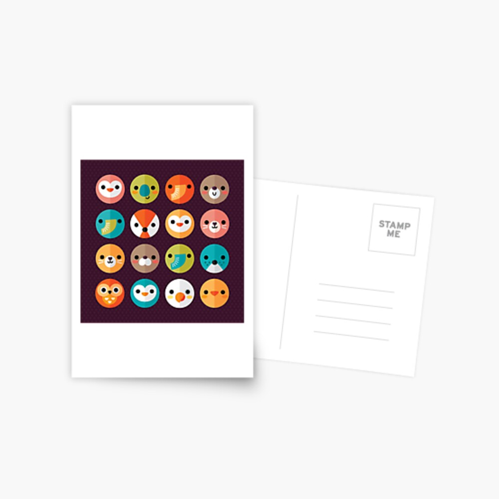 Smiley Faces Postcard
