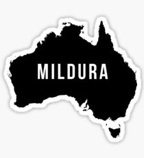 Mildura, Australia State Silhouette Sticker