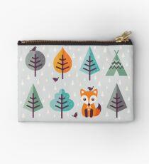 Fuchs im Wald - auf Grau Täschchen