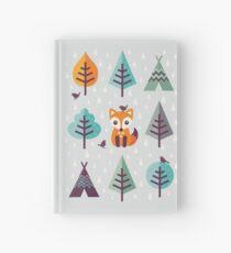 Fuchs im Wald - auf Grau Notizbuch