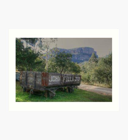 Newnes railway history Art Print