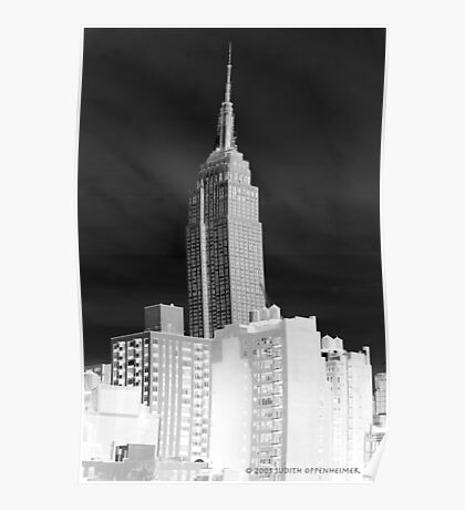 Gray Skies Empire State Building Poster
