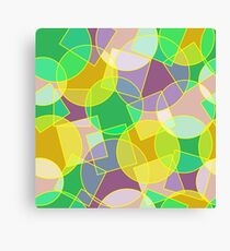 Colorful abstract geometric pattern Canvas Print
