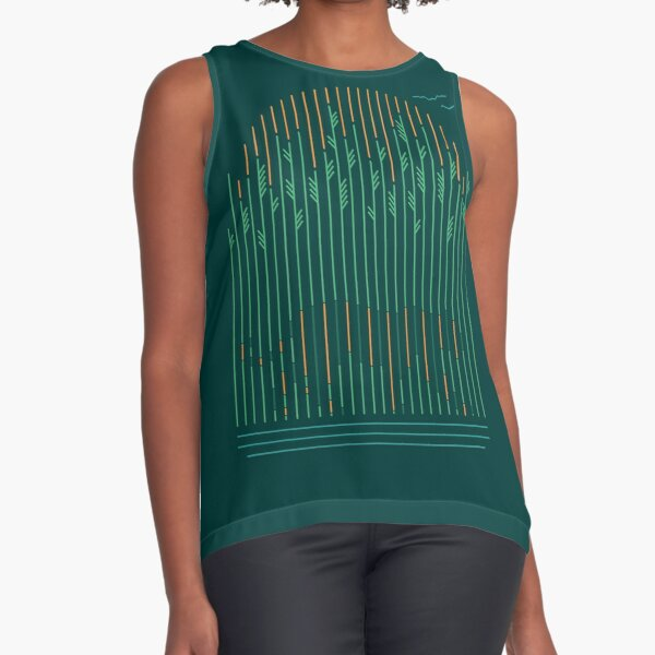 Tiger In The Grass Sleeveless Top