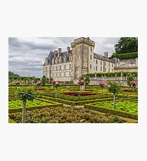 Chateau de Villandry, Loire Valley, France Photographic Print