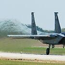F-15 Eagle Full Throttle Take off by Paul Lenharr II