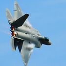 F-22 Raptor High Speed Turn by Paul Lenharr II