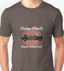 Vintage Wheels: Opel Admiral Cabriolet Unisex T-Shirt