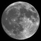 Black and white Moon by Paul Lenharr II