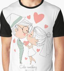 Cute Wedding Graphic T-Shirt