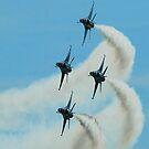 USAF Thunderbird formation turn by Paul Lenharr II