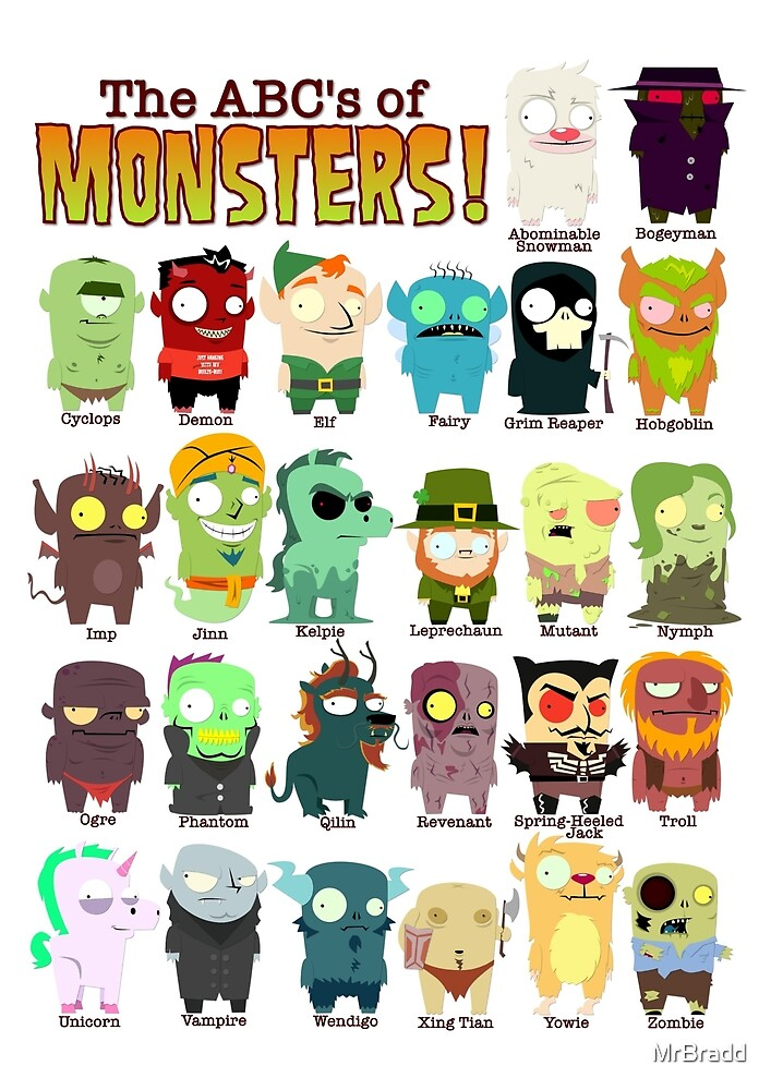 The ABC's of Monsters! - With Names