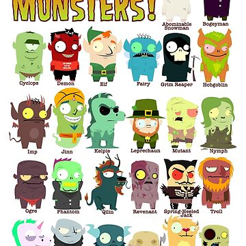 The ABC's of Monsters! - With Names. by MrBradd