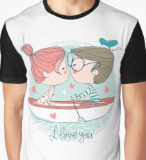 Kiss In A Boat Graphic T-Shirt
