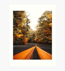 on the road in vermont Art Print
