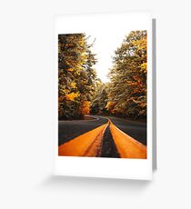 on the road in vermont Greeting Card