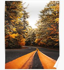 on the road in vermont Poster