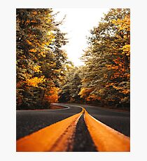 on the road in vermont Photographic Print