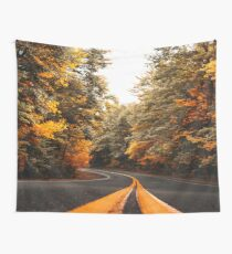 on the road in vermont Wall Tapestry
