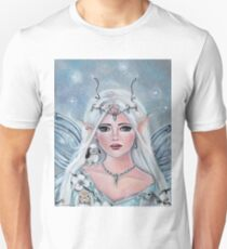 White blossom elf fantasy art by Renee L Lavoie Unisex T-Shirt