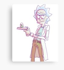 Scribbly Rick Canvas Print