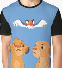 Simba und Nala Grafik T-Shirt