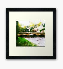 autumn scenery Framed Print