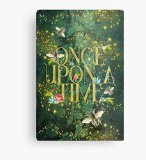 Bee Once Upon a Time Metal Print