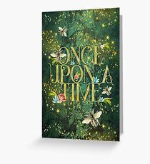 Bee Once Upon a Time Greeting Card