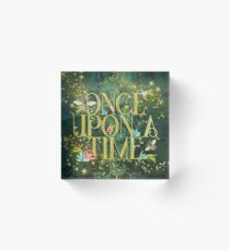 Bee Once Upon a Time Acrylic Block