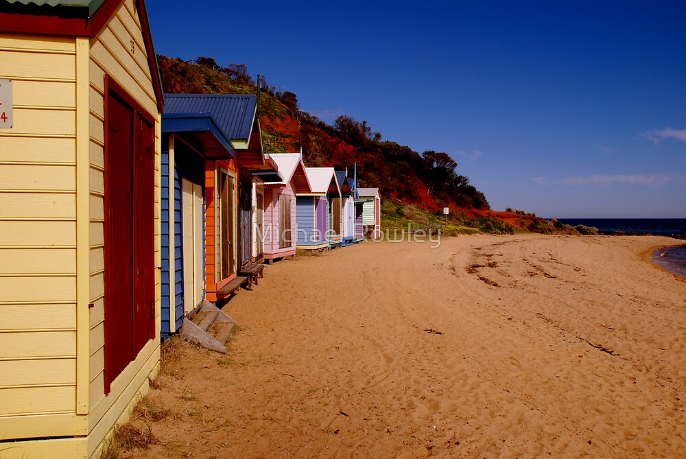 Beach box's by Michael Rowley