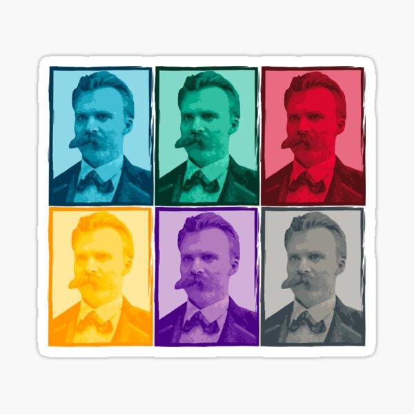 Friedrich Nietzsche colorful portrait pattern Sticker
