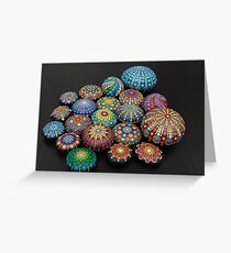 Mandala Painted stones  2 Greeting Card