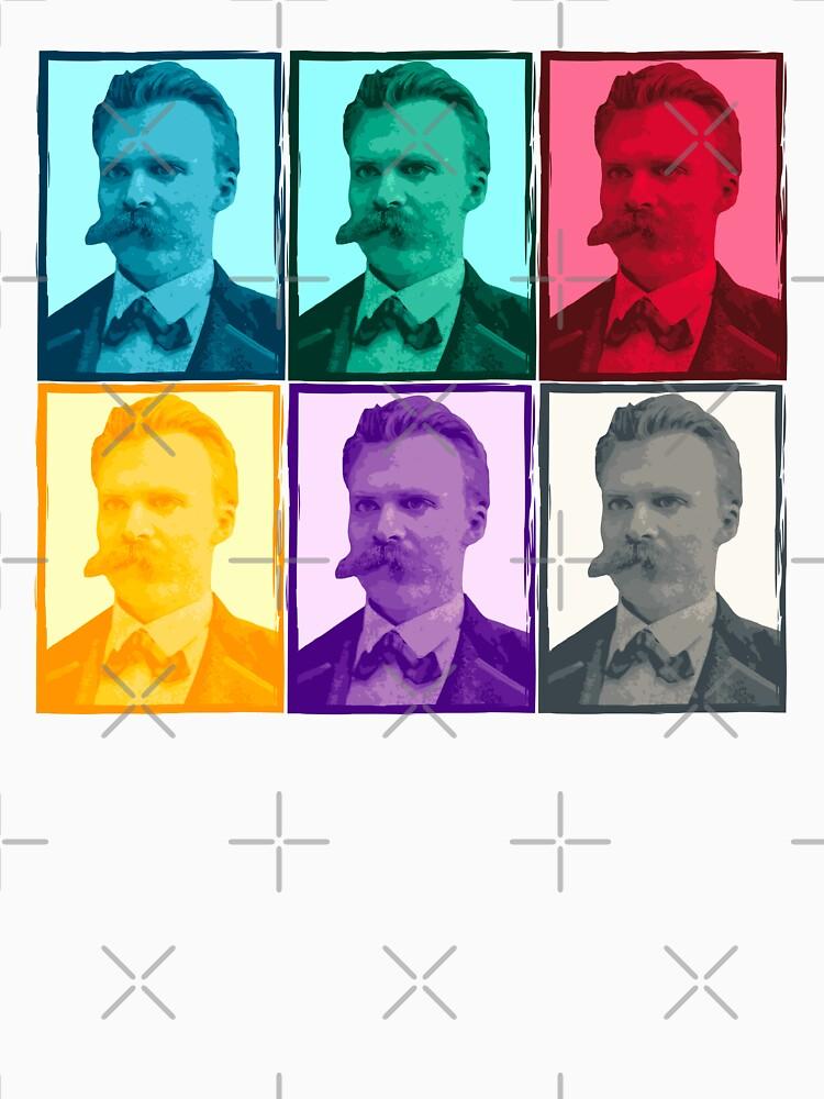 Friedrich Nietzsche colorful portrait pattern by PrintablesP