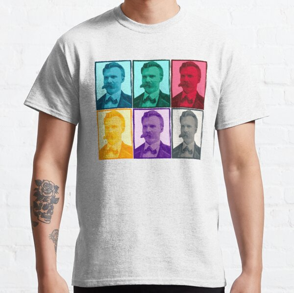 Friedrich Nietzsche colorful portrait pattern Classic T-Shirt