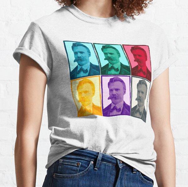 Friedrich Nietzsche colorful portrait pattern Classic T-Shirt