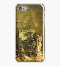 Gustave Courbet - The Studio Of The Painter, A Real Allegory iPhone Case/Skin