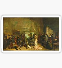 Gustave Courbet - The Studio Of The Painter, A Real Allegory Sticker