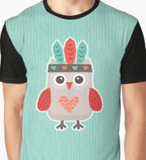 Hipster Owlet Mint Graphic T-Shirt