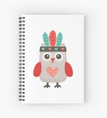 Hipster Owlet Mint Spiral Notebook
