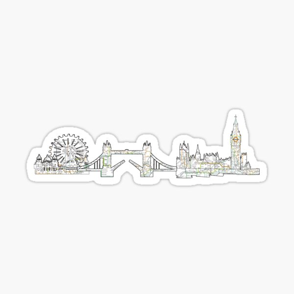London Skyline The Underground Europe favorite tube Sticker