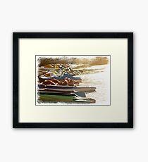 Row Boats Framed Print