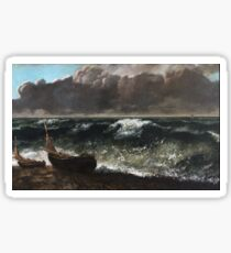 Gustave Courbet - The Wave 1869 1 Sticker