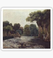 Gustave Courbet - The Weir At The Mill 1866 Sticker