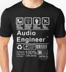 AUDIO ENGINEER - CERTIFIED JOB Unisex T-Shirt