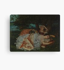 Gustave Courbet - Young Ladies On The Bank Of The Seine Canvas Print
